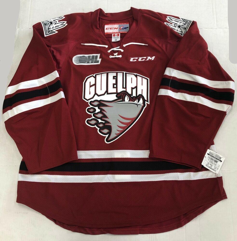 New Authentic Pro Stock CCM Guelph Storm OHL Hockey Player Jersey ...