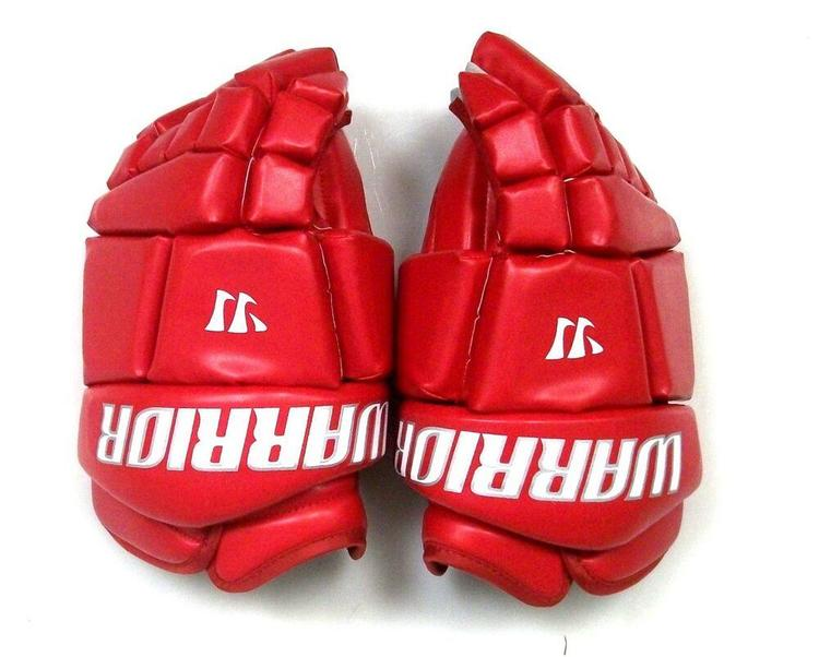 "New Warrior Fatboy box lacrosse goalie gloves 12/"" royal Lax indoor junior goal"