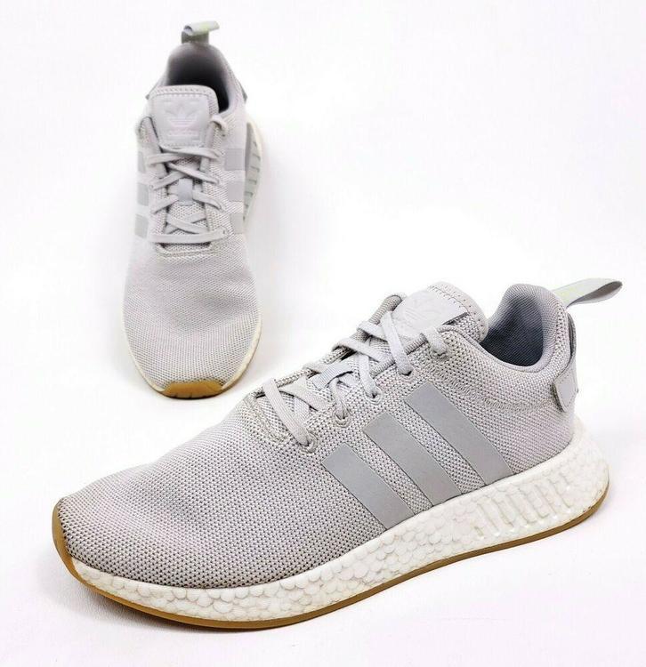 Adidas Originals Nmd R2 Mens 8 5 Grey White Gum Boost Running