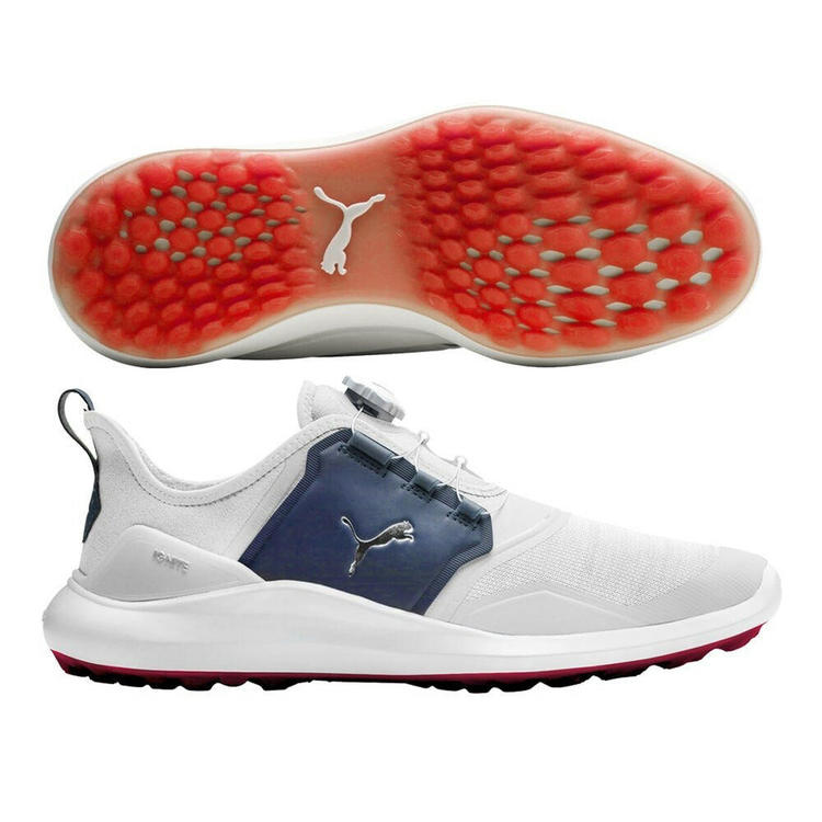 Puma New Ignite Nxt Disc White Silver Peacoat Mens Size 10 Firm Price Removed Golf Shoes Sidelineswap