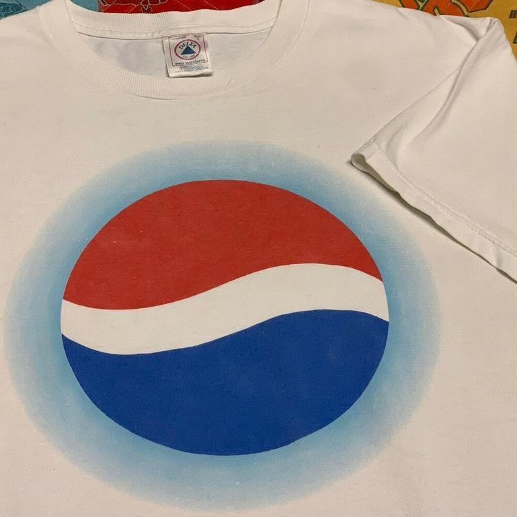 Classic Pepsi Logo Childrens Unisex White T-Shirt