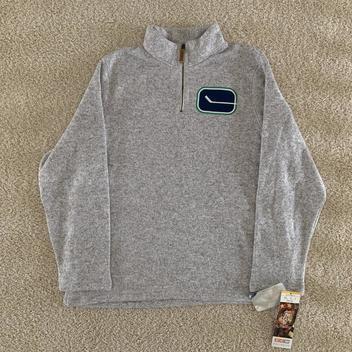 NWT Men/'s 1//4 Zip Fleece Pullover Hoodie Extended Size