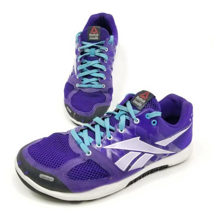 Productos a bajo precio barata como escoger Reebok Crossfit Nano Womens 10 Training Shoes Purple Lace Up ...