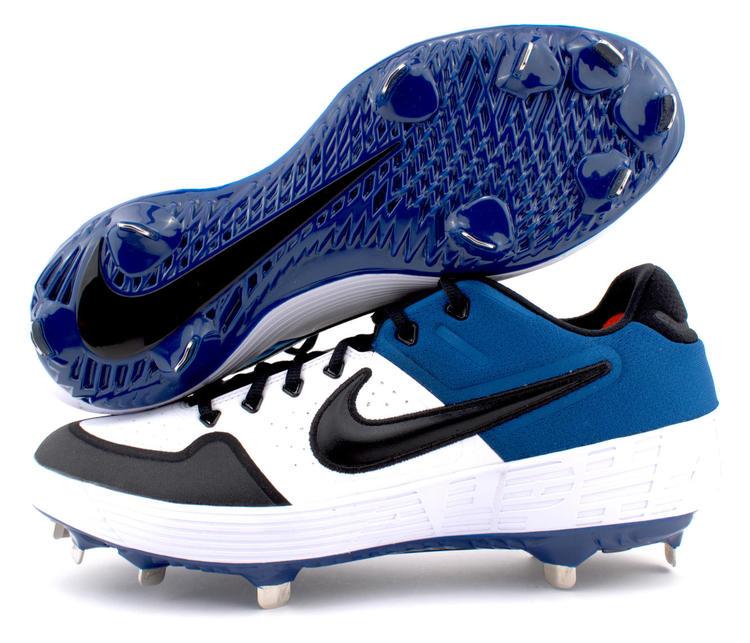 Nike Alpha Huarache Elite 2 Low Metal Baseball Cleats Blue White AJ6873-104  Women Size 8.5