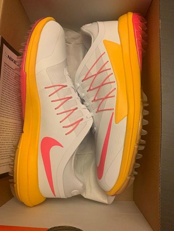 Nike New Lunar Control Vapor Womens White Orange Pink 849979 102 8 Golf Shoes