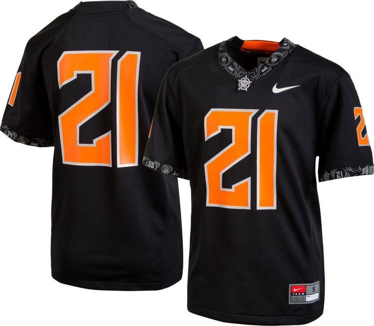 new $100 mens small/medium/XL/XXL nike oklahoma state OSU cowboys #21 football jersey dri-fit