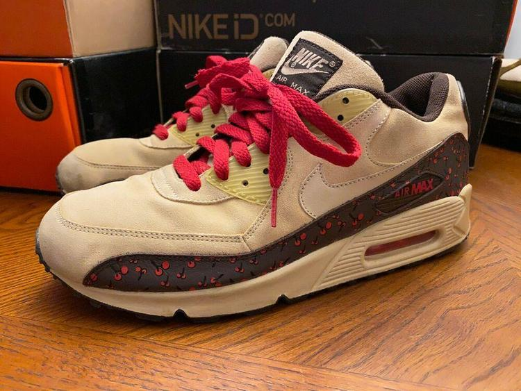Nike Air Max 90 Cherry/Tan/Dark Cinder W11 / M9.5 314455-221 atmos alife nyc