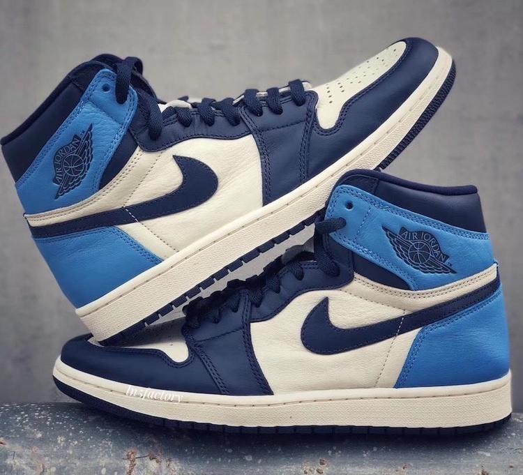 Air Jordan Jordan 1 Retro High Obsidian Unc Basketball Shoes