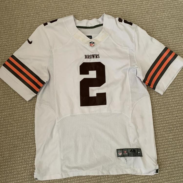 johnny manziel white browns jersey