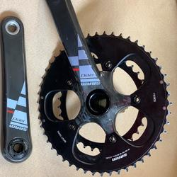 Campagnolo Record H11 Carbon Crankset 172.5 39//53 Chainrings 11 Speed MSRP $720
