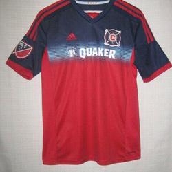 Adidas Chicago Fire Jersey Kids Boys Xl Blue Quaker Mls Soccer Apparel Jerseys