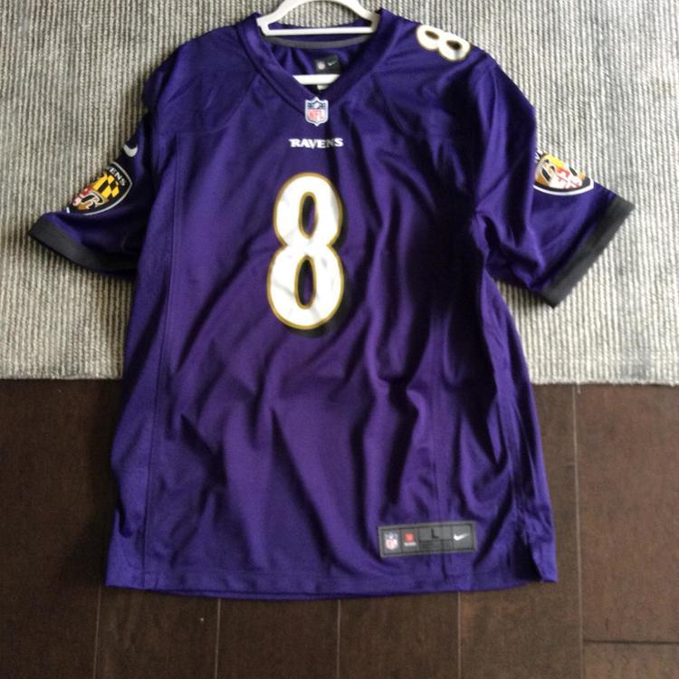 Lamar Jackson Baltimore Ravens Purple Home Nike Game Jersey- Size Men's Large