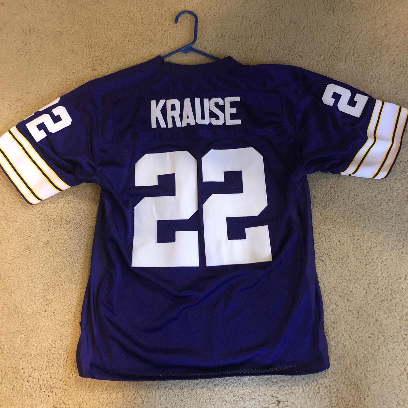Paul Krause Minnesota Vikings #22 Purple Used Adult Size 50 ...