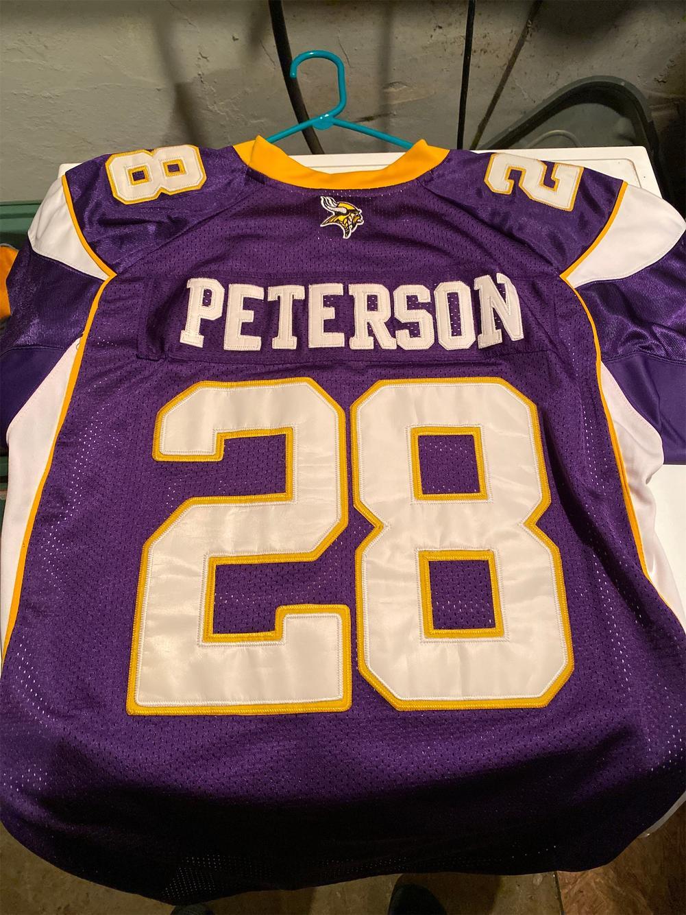 adrian peterson on field jersey