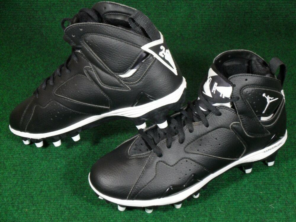 Nike New Mens Air Jordan Retro 7 Td Black White 9 5 719543 Football Cleats