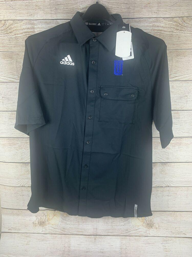 Adidas NWT University Of tulsa Button Up Black Size L