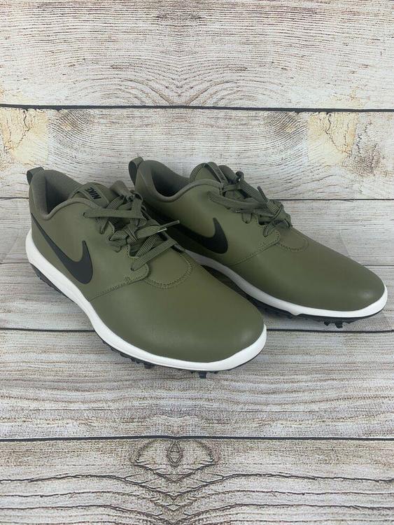 Nike Roshe G Tour Waterproof Men Size 11w Olive Black Ar5579 200 Golf Shoes