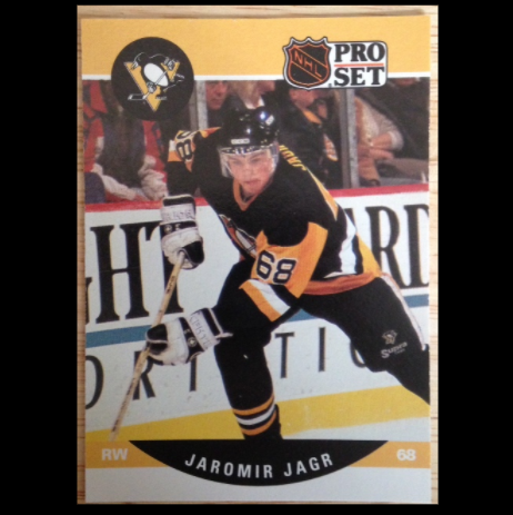 Jaromir Jagr Pittsburgh Penguins 1990 Nhl Pro Set Rookie Card Memorabilia