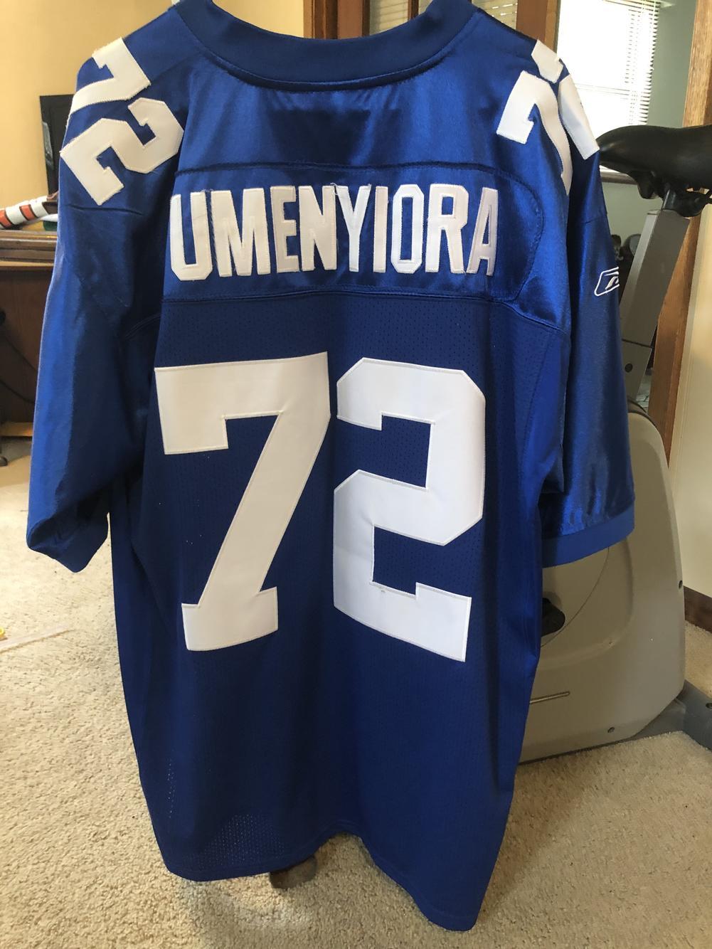 Osi Umenyiora New York Giants #72 Blue Used Adult Size 50 ...