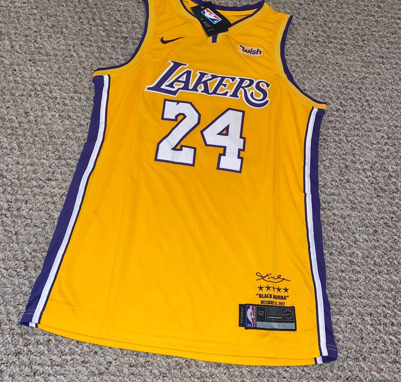 "Kobe Bryant 24 Los Angeles Lakers ""Memorial"" Adult 52 Jersey ..."