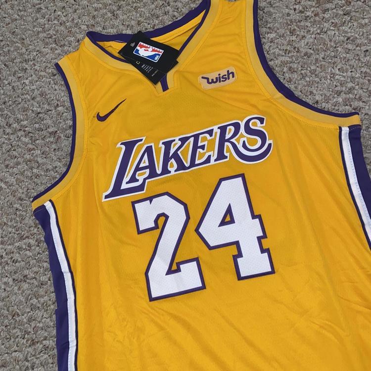 """Kobe Bryant 24 Los Angeles Lakers """"Memorial"""" Adult 52 Jersey   SidelineSwap"""