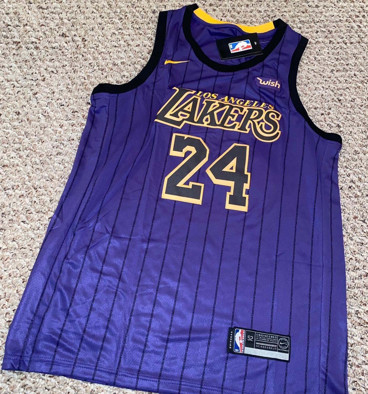 Kobe Bryant Alternate Purple Los Angeles Lakers Adult 52 Jersey ...