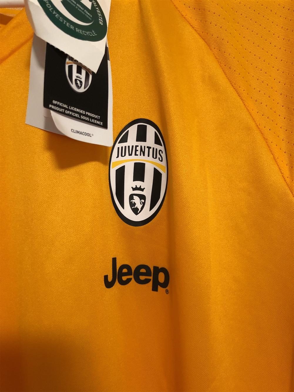 adidas juventus gold men s xl jersey soccer apparel jerseys sidelineswap
