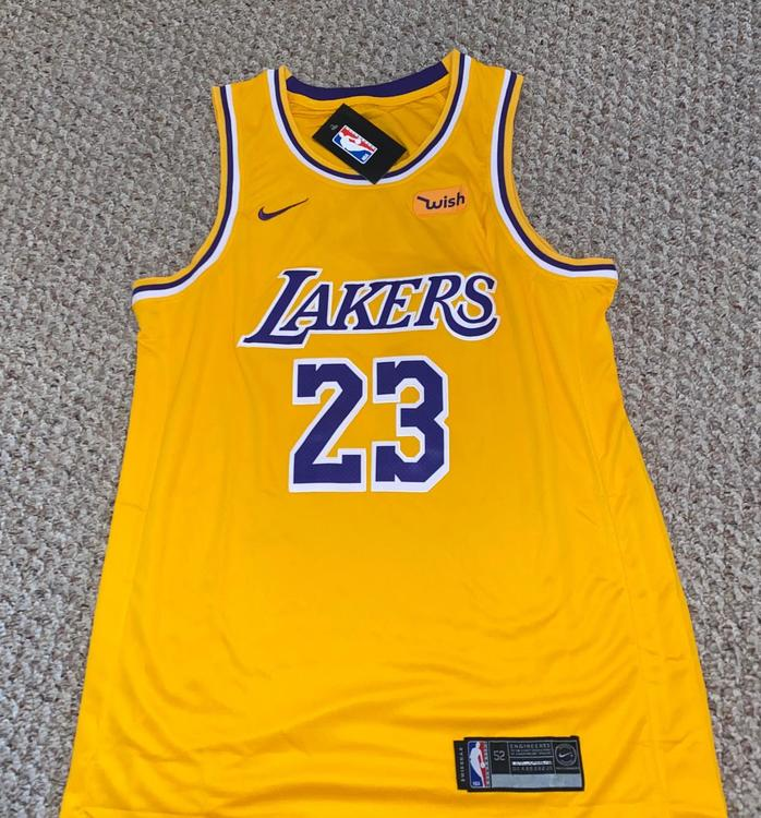 Los Angeles Lakers Lebron James Adult Size 52 Jersey
