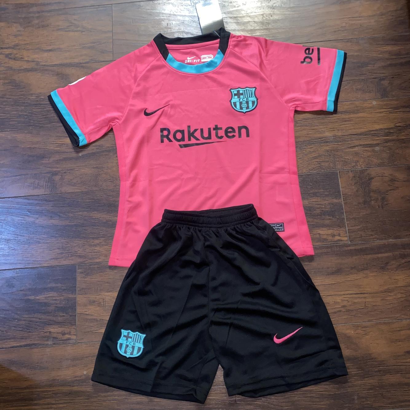 Nike Fc Barcelona 3rd Kit Kids 20 21 Soccer Apparel Jerseys