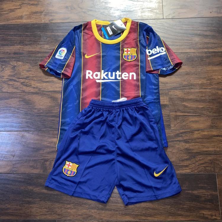 Nike Fc Barcelona Home Kit Kids 20 21 Soccer Apparel Jerseys