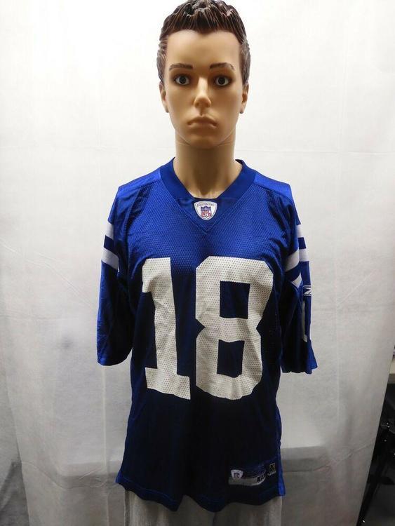 Reebok Peyton Manning Indianapolis Colts Jersey M Nfl Blue Football Apparel