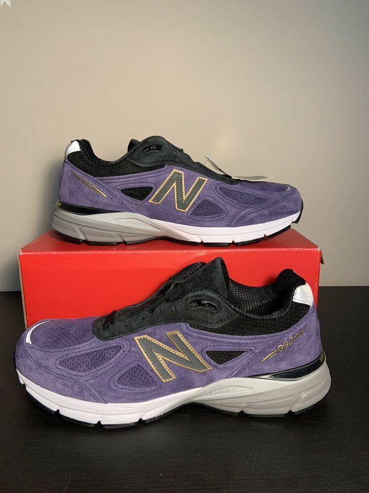New Balance 990v4 Purple Gray Black