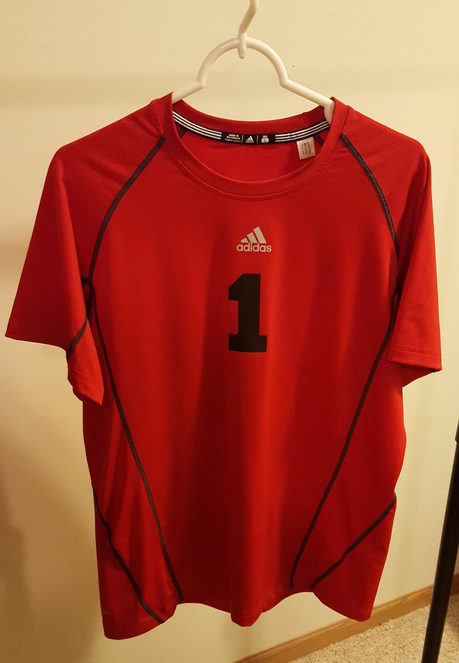 Adidas Climacool Short Sleeve Goalkeeper Jersey - Red - Used ...