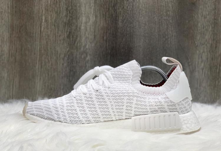 Adidas Nmd R1 Stlt Primeknit Cloud White Running Shoes Cq2390