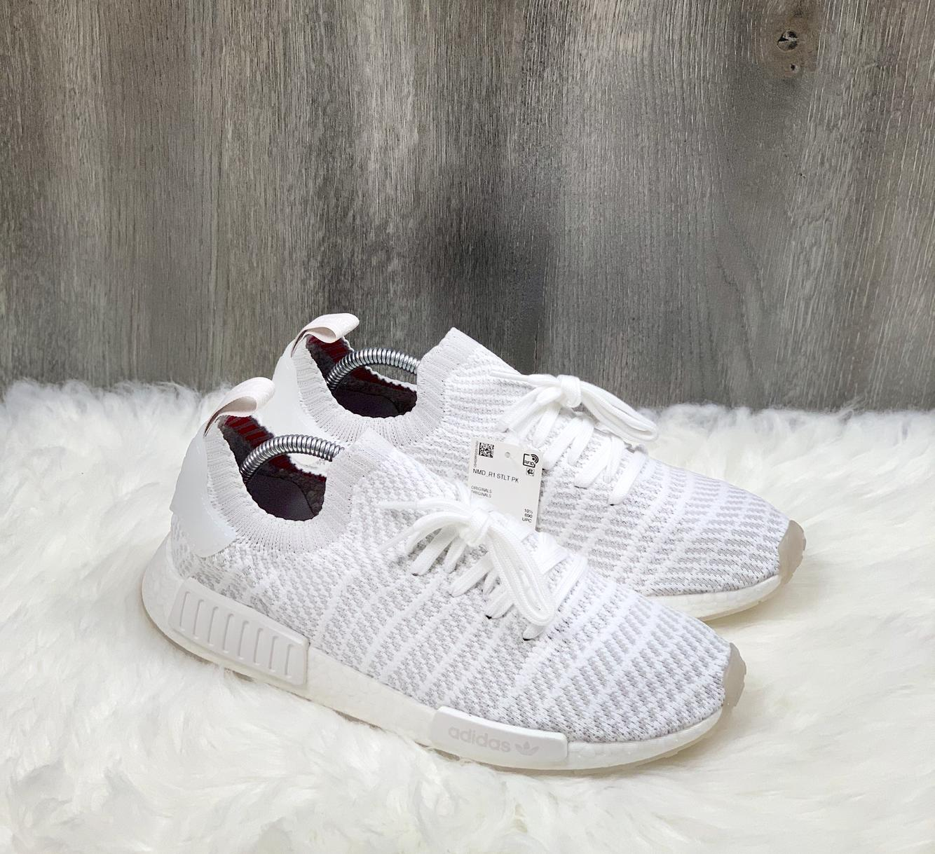 Adidas NMD_R1 STLT Primeknit Cloud White Running Shoes CQ2390 ...