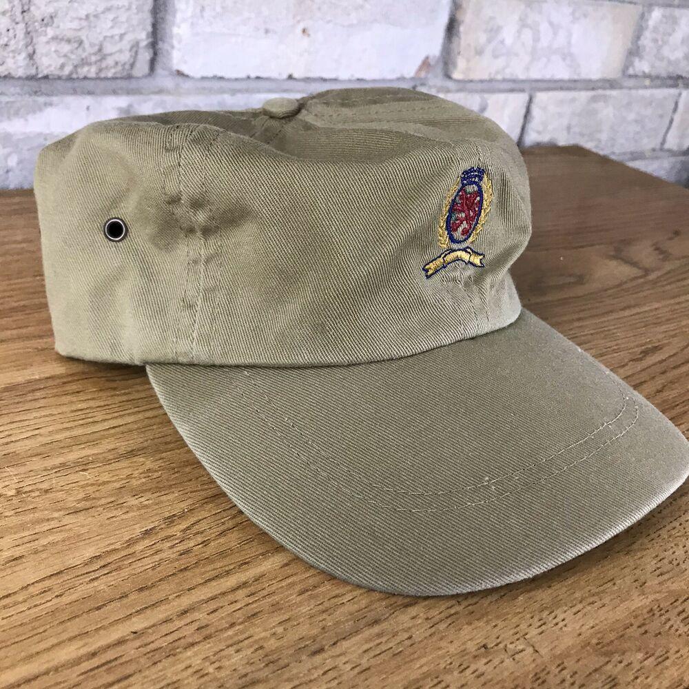 Vintage 90s Unbranded Floral Pattern Baseball Cap Hat Leather Strapback Men\u2019s Size Made In USA
