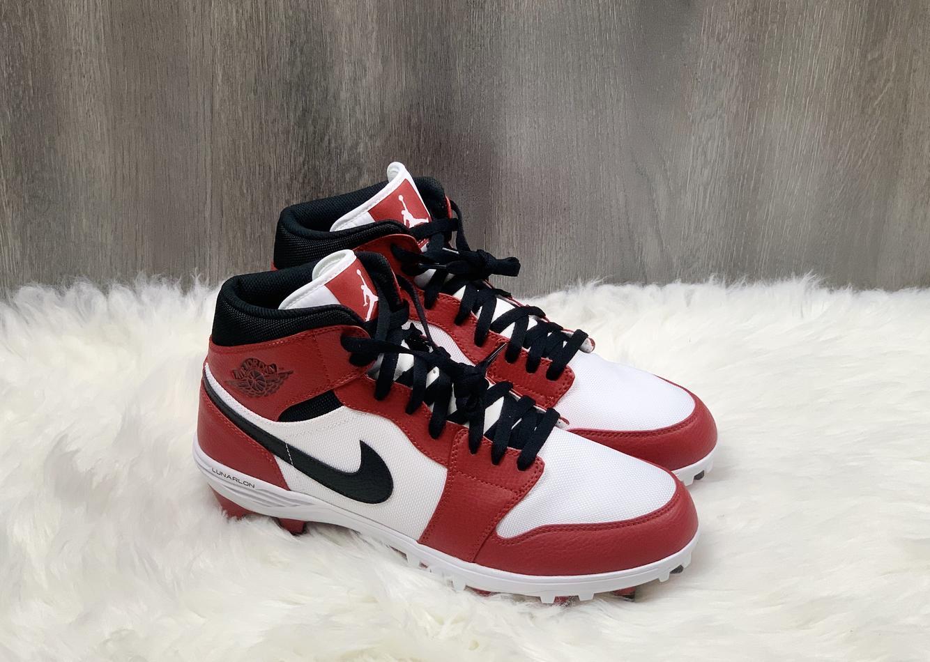 Air Jordan Nike 1 Td Sz 11 Mid Chicago Red Shoes Ar5604 106 Football Cleats
