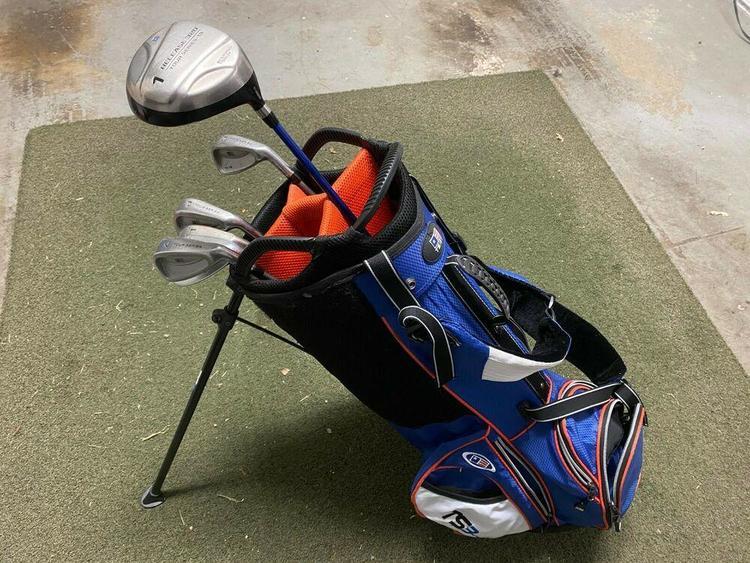 Us Kids 51 Inch Junior Set Blue Bag 5 2209 Golf Clubs