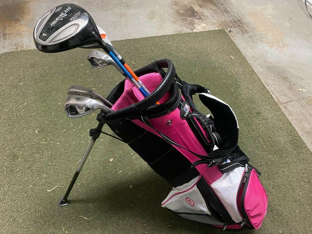 Us Kids 51 Inch Junior Ultralight Set Pink Bag 5 2210 Golf Clubs