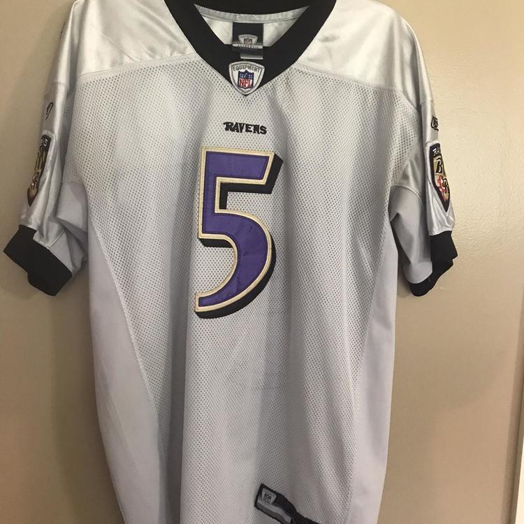 White Joe Flacco Baltimore Ravens Men's Size 50 Reebok Jersey