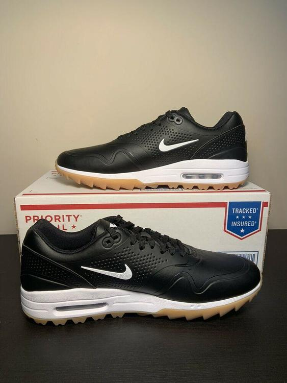 Nike New Air Max 1 Spikeless Golf Shoes Black Gum Aq0863 001 Men S Size 11 Footwear Turfs Indoor Sneakers Training
