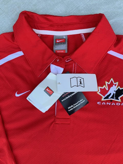 Team Canada Red New Adult Men Large Nike Dry Fit Polo Shirt