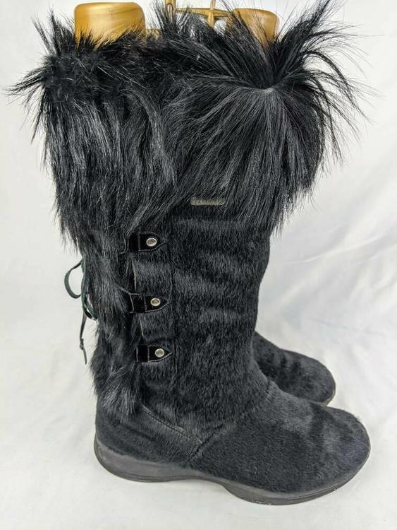 Tecnica Womens Faux Fur Black Mid Calf