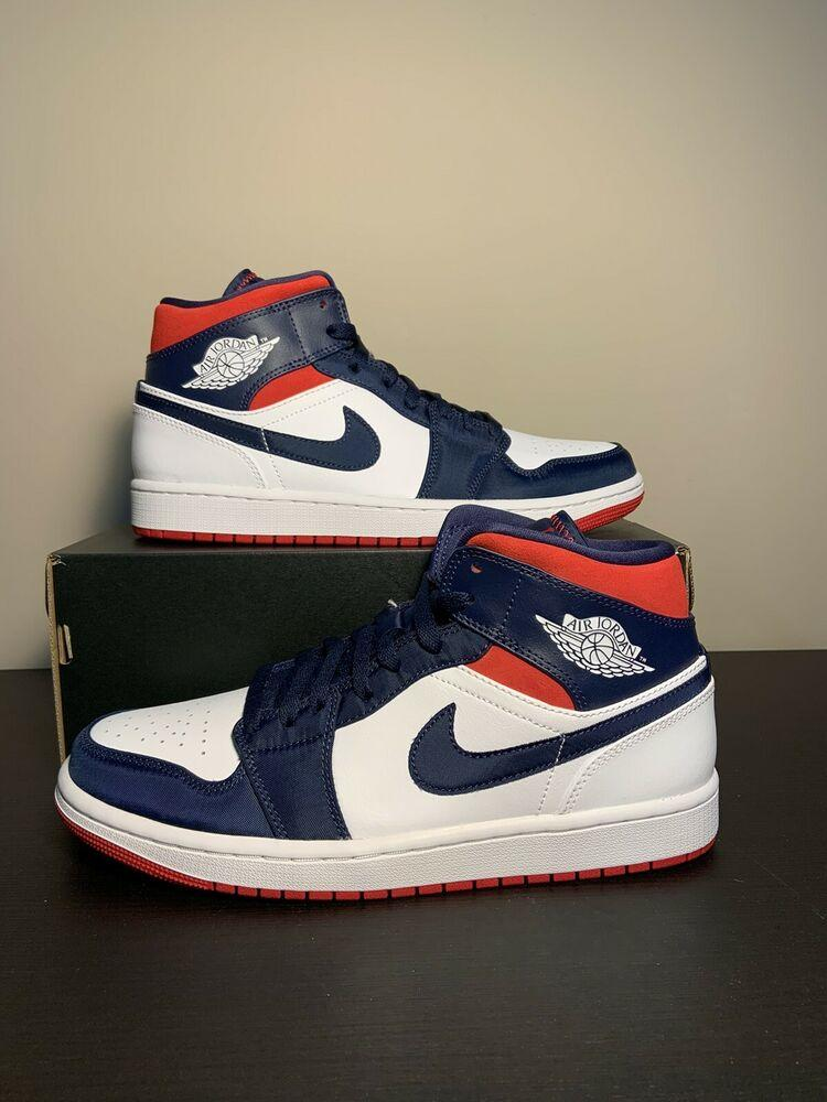 Air Jordan Nike 1 Mid SE 'Olympic' USA