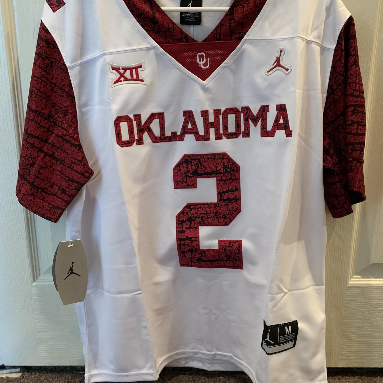 CeeDee Lamb Oklahoma Sooners Jordan Football Jersey - White