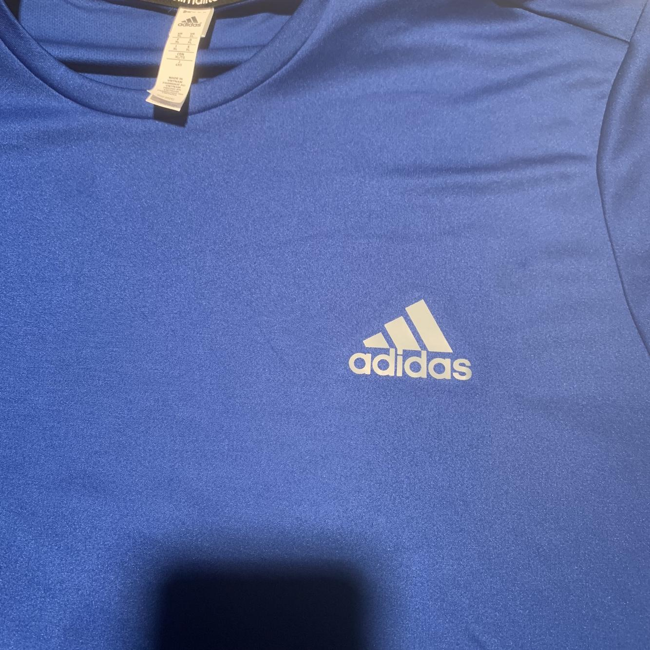 Like New Blue Men's XL Adidas Dry Fit Shirt | SidelineSwap