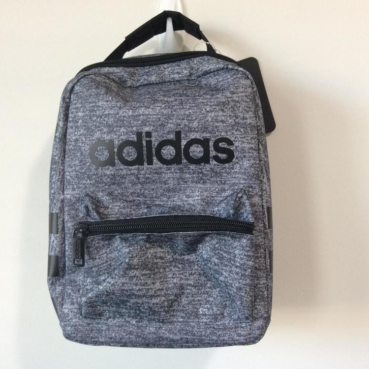 Adidas Santiago Lunch Bag Box Legend Ink Black/Jersey Insulated Mini Back Pack