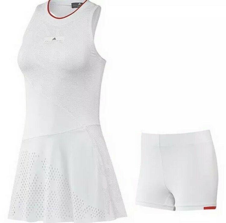Ponte de pie en su lugar Tomar medicina Fangoso  Adidas Women's Stella McCartney Tennis Dress/Shorts set EA3118 White Sz  Medium   Tennis & Racquet Sports Apparel