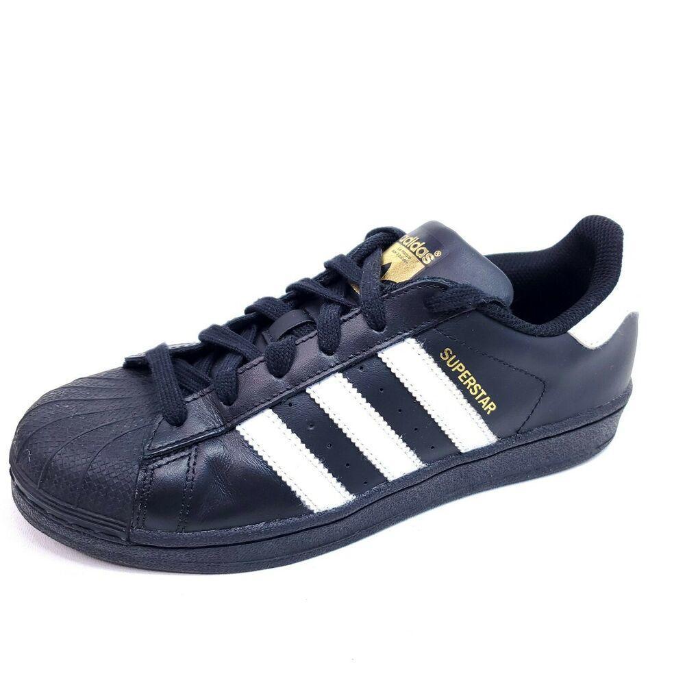 Adidas Mens 7 Superstar Shoes Black