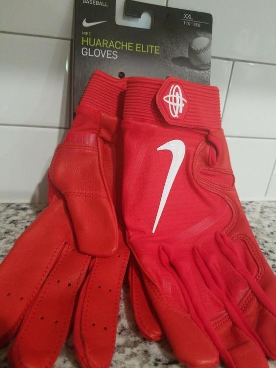 NWT Nike Huarache Elite Baseball Batting Leather Gloves Sz XLarge - Adult - PGB643 663